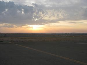 A new dawn - at Broken Hill Airport 2013
