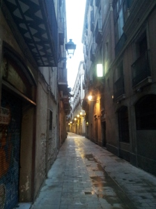 Worth getting up at 6:30am to have Old Barcelona to myself.