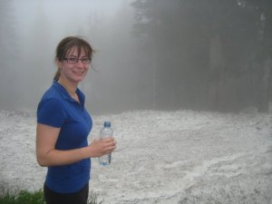 All smiles at the top of the Grouse Grind