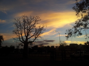 View from an evening run in Kununurra