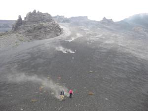 Volcano sliding