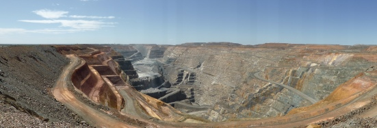 The Super Pit - if you look really closely you can just see some of the massive dump trucks looking like tiny ants.